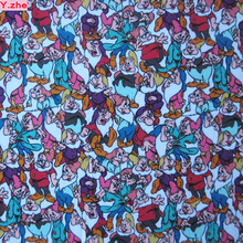Good Seven Dwarfs Fabric Knitted Cotton Fabric Stretch Seven Dwarfs Printed Jersey Fabric Patchwork Diy Sewing Baby Clothing