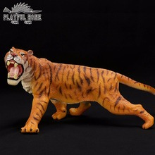 Handmade Certified Goods Large Anime Tiger Model Soft 3D Animals Action Figures PVC Stuffed Figma Kids Toy For Children Gift(China)