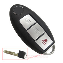 Replacement Remote Key Shell Blank Cover fit for nissan key Case without chip auto parts 1pc with smart key shell card