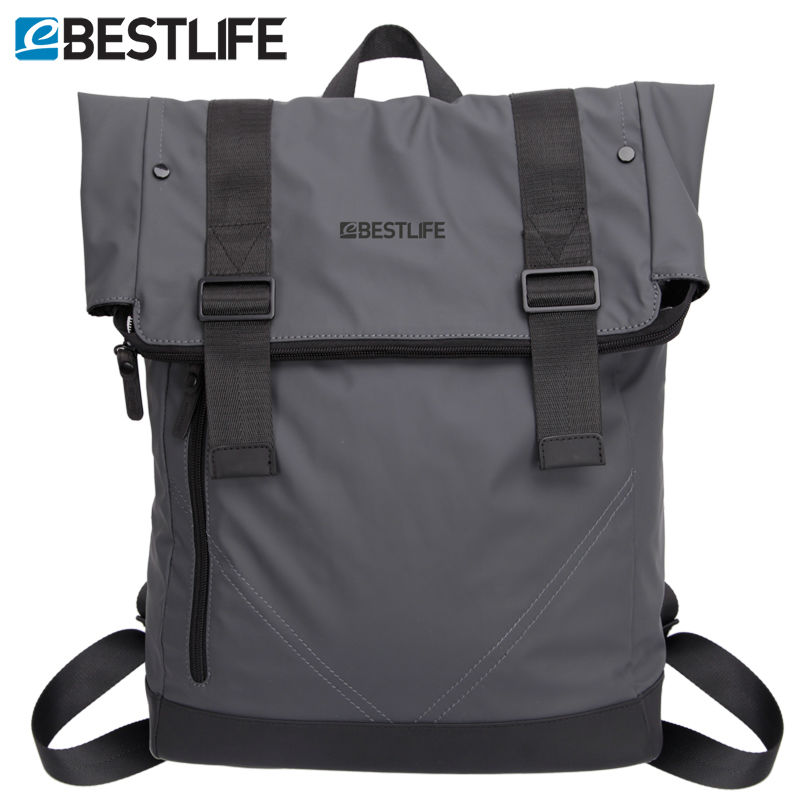 BESTLIFE Flip mochila escolar Laptop Backpack Soft PU Leather school bag Male Urban Waterproof Travel Bags Men Casual bagpack <br>