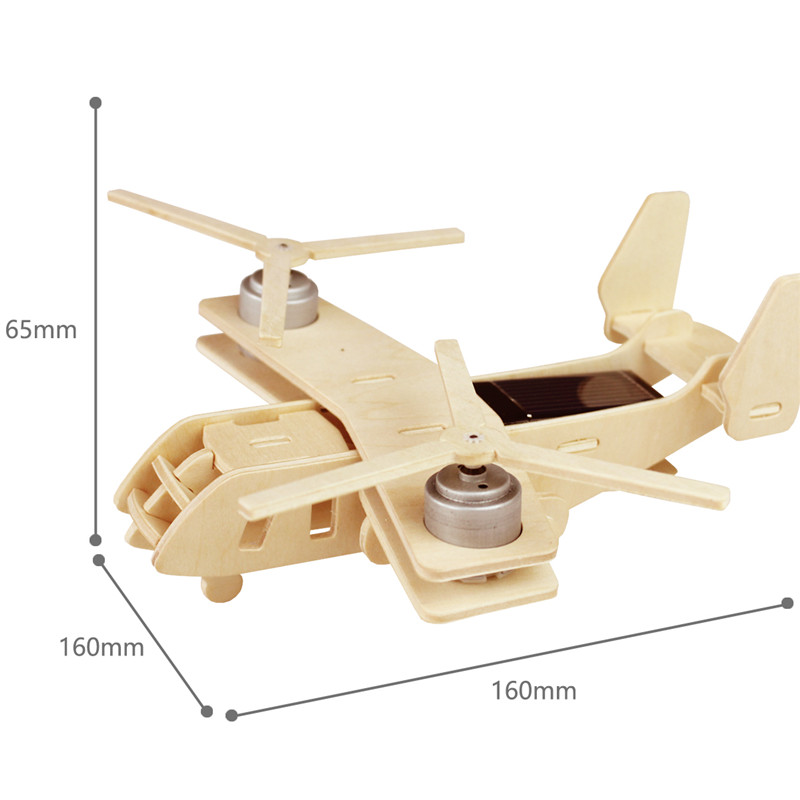 Robud 11 Kinds Solar Energy Powered Plane 3D Wooden Model Building Popular Creative Toys Hobbies Gift for Children,Teens P250 42