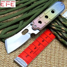 EFE serge Mini folding knife S35VN blade key chain titanium handle camping pocket knives tactical outdoor EDC tools Knife