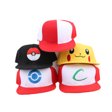 1 PC Adult Size Unisex Pokemon Go Pocket Monster Pikachu Hip-hop Hat Baseball Cap