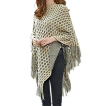 2016 New Women Sweaters Pullovers V Neck Striped Knitted Cape Poncho Loose Casual Solid Outerwear Spirng Autumn Pull Femme