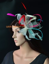 NEW Hot pink red turquoise blue ivory Sinamay fascinator crin fascinator for Melbourne cup,Ascot races wedding kentucky derby