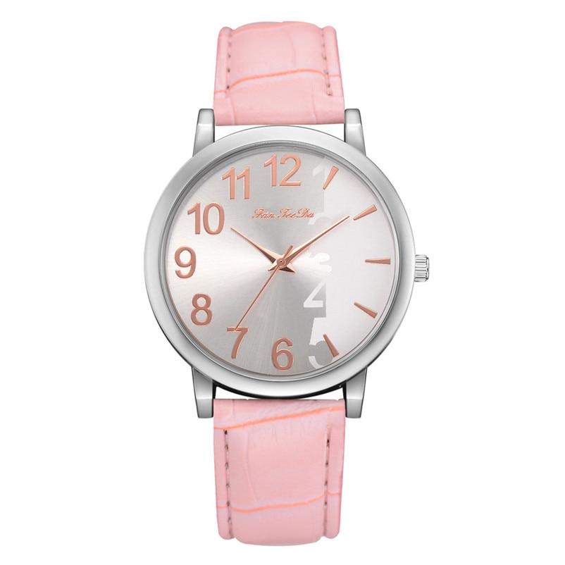 2018 High Quality women fashion casual watch luxury dress Leather bands Analog Quartz Wrist Watch clock relogio feminino Y12 (10)