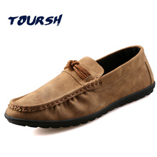 TOURSH Shoes Men Casuals Moccasins Men Loafers For Men Casual Shoes Men Flats Gommino Mens Suede Driving Shoes Hommes Chaussures