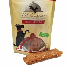 Pet Cuisine Dog Treats Training Snacks Food, Chicken & Pork Roll Puppies Chewy, 100g*2(China)
