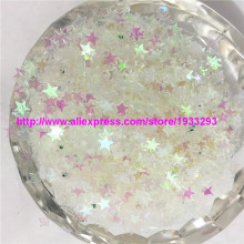 50g(5000pcs) 4mm Lovely Star Shape PVC loose Sequins Paillettes for Nail Art manicure/sewing/wedding decoration confetti