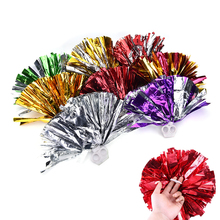 Game pompoms practical cheerleading cheering pom poms Apply to sports match and vocal concert Color can free combination 32cm