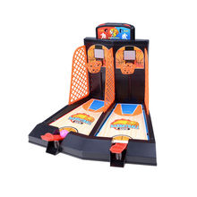 2017 Mini Plastic basketball game Table play Toys Family sport home toy balls basketball shooting machines basketball(China)