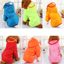 2017 Waterproof Dog Puppy Raincoat Dog leisure Hoodies Apparel Raincoat Jacket 4 Colors XS-2XL Hot Selling Pet Costume
