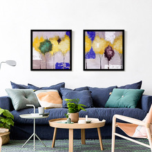 Oil Painting Canvas Spray Painting Yellow Tree Wall Photo Decoration Home Decor Art Canvas Prints for Living Room No Frame(China)
