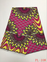 New products! African java wax high quality 100%cotton African printed wax fabric for party dress(China)