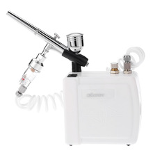 0.3mm Dual Action Airbrush spray gun Gravity Feed Compressor Kit for Pen body Paint Makeup Manicure Craft Cake Model paint Nail