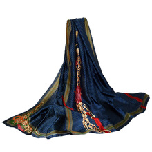 Summer New Luxury Brand Women scarf fashion Print quality beach Silk Scarves Designer Shawls Wraps long size bandana foulard(China)
