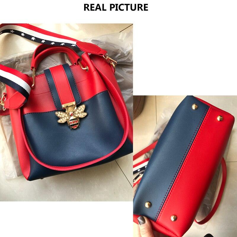 2018 Designer Crossbody Bag Fashion Bee Pearl Women Messenger Bags ... 70de7e1f4eaf