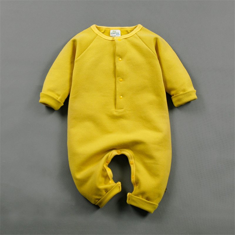 Winter Style Baby Girl Boy Clothes Infantil Romper Thicken Cotton Jumpsuits Baby Costume Newborn Solid Coveralls Rompers<br><br>Aliexpress