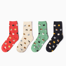 Buy Cartoon men Women Socks Cat Animals Style Striped Warm Cotton Socks Lady Floor meias Socks crew Female 1 pair for $2.15 in AliExpress store
