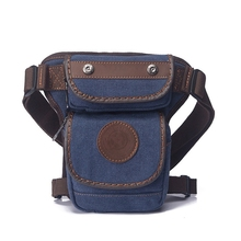 quality fashion canvas waist bag leg bag waterproof Fanny pack thigh holster bag men casual waist pack military bum hip pouch