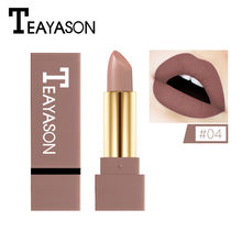 12 Shade Nude Color Matte Lipstick Waterproof Pigment Brown Nude Long Lasting Lipstick Matte Makeup batom matte Maquillajes Para(China)