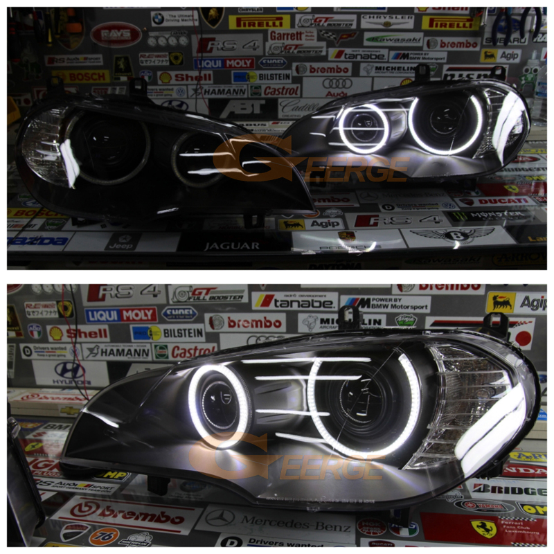 BMW X5 e70 2007 2008 2009 2010 Xenon headlight smd led angel eyes(29)