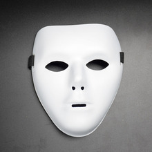 Simple Solid White Color Cosplay Party Plastic Men&Women Mask for Dance Masquerade Movie Party Cosplay Halloween Full Face Mask(China)