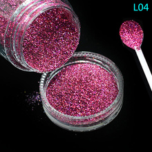 Tracy Simple Nail 1 Bottle Deep Red Nail Glitter Sequins 3d Pigment Powder For Polish Art Sticker Manicure Decoration Tool TRL04(China)