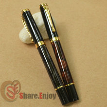 2 PCS JINHAO 500 OLIVE GREEN VS WINE MARBLE ROLLER BALL PEN GOLDEN TRIM(China)