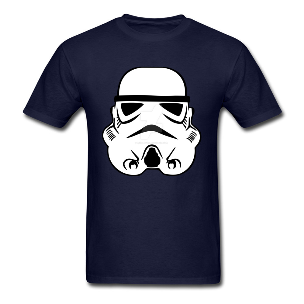 Newest Stormtrooper 10 Short Sleeve T-Shirt Summer/Autumn Round Neck Pure Cotton Tops & Tees for Men Tops Shirt Simple Style Stormtrooper 10 navy