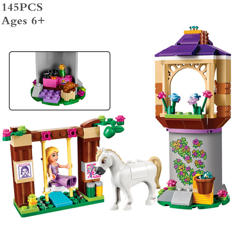 145PCS Girls Princess Friends Rapunzel's Best Day Ever Bakery DIY 3D Blocks Toy Gift Compatible With Lepine XD64(China)