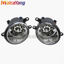 Fog Lights For Polo car-styling Car Styling LED Fog Lamps Refit Right + Left For Toyota Corolla 2007 2008 2009 2010(China)