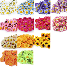 Wholesale 100x Silk Artificial Gerbera Daisy Flowers Heads for DIY Wedding Home Decration Light Pink Fack Decorative Flowers(China)