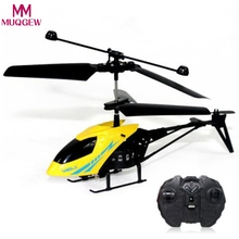 New RC Quadcopter 2CH Mini Rc helicopter Radio Remote Control Aircraft Micro Controller RC Helicopter Kids night flying 2Colors(China)