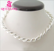 RED SNAKE Private Clearance: 40pcs/lot  Silver Plated Twistable/ Flexible/ Bendble Snake Necklace