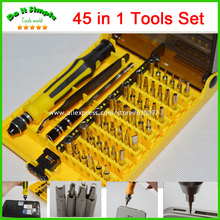 Buy 45 1 Precision Screwdriver Cr-V Opening Tools Repair Phone Disassemble Tools set Kit iPhone iPad HTC Cell Phone Tablet PC for $14.14 in AliExpress store