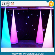 Stand led light decoration inflatable pillar for party / event /wedding decoration