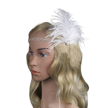 Limit buy Women's Elastic Feather Headdress Headwear Headband with Rhinestone Decoration for Costume Party 2 Colors