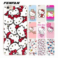 Soft silicone TPU cover for iPhone 5S case 5 SE 5C 6 7 8 Plus Hello kitty cover new arrival for fundas iPhone 8 8 Plus X case(China)