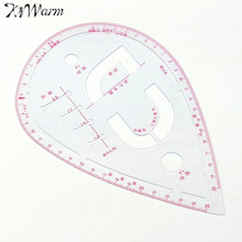 Plastic Sleeve Button Cutting Ruler Clothing Sample Pockets Collar Drawing Tailor Ruler Curve Yardstick Sewing Tools Accessory(China)