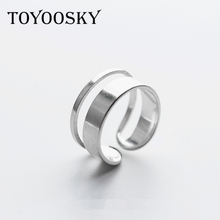 S925 New Design Open Finger Ring Punk Lovely Personality Multilayer Hollow Exaggerated Geometry Accessories(China)