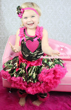 Valentine Heart Camouflage Top Pettiskirt Girl Outfit Leg Warmer Accessory 1-8Y MAPSA0741(Hong Kong)