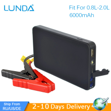 LUNDA New Mini Portable 12V Car Battery Jump Starter Auto Jumper Engine Power Bank Starting Up To 2.0L Car Start(Hong Kong)