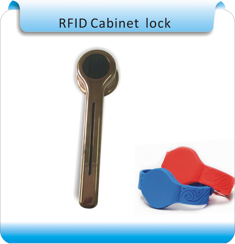 Free shipping 615 125KHZ  RFID Card Key Metal shell  Electronic Cabinet locker lock  with Dry battery+one wristband <br>
