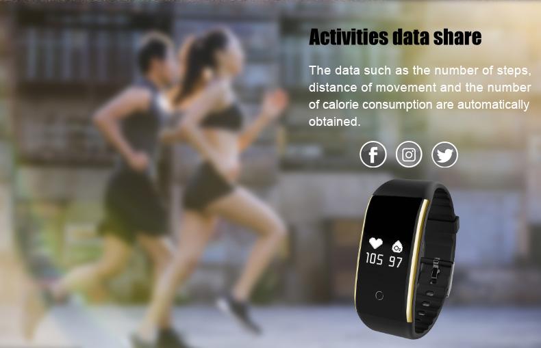 Waterproof Android Pedometer + Blood Pressure & Heart Rate Monitor Wrist Watch 11