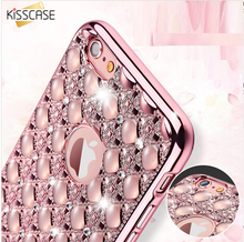 KISSCASE Glitter Case For iPhone 6 S Plus Plating Frame Soft Gel Bling Diamond Cover For iPhone 6 6s Plus Coque Capa Accessories