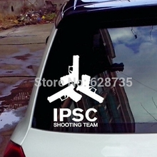 "Fashion Cool Vinyl Wall Sticker - Waterproof Gun ""IPSC SHOOTING TEAM"" Decals For The Whole Car Body Decoration Free Shipping"