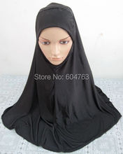 6pcs/bag new arrival plain black big muslim hijab free shipping