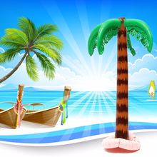 Inflatable Hawaiian Tree Large Inflatable for Coconut Tree Funny Jungle Toy For Hawaiian Summer Beach Party Decoration