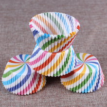 400Pcs/Set Rainbow Colors Cake Tool Muffins Paper Cupcake Cup Baking Cup Muffin Boxes Cake Cup Bakeware Pastry Decorating Tools(China)